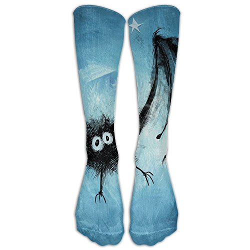 Unisex Halloween Bat High Knee Socks Long Sports - Candy Knee Socks Stripe High