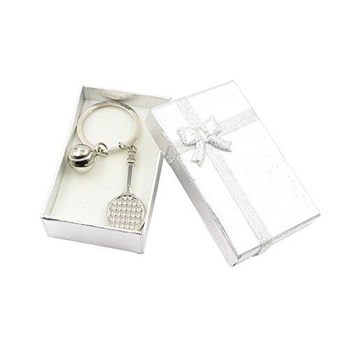 Hanerdun Cute Mini Tennis Racket And Ball Set Key Ring With Gift Box Key Chain Custom Gifts Perfect Gift Idea