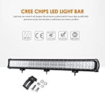 "Auxbeam 30"" 198W Led Light Bar 66pcs 3W CREE Chips combo Flood 60 degree Spot 30 degree IP67 for off-road trucks Pickup pick-up 4x4 car SUV Van Wagon Van Camper 4WD"