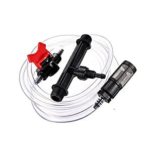 "Qiorange 3/4"" Garden Irrigation Device Venturi Fertilizer Injector Switch Water Tube Kit"