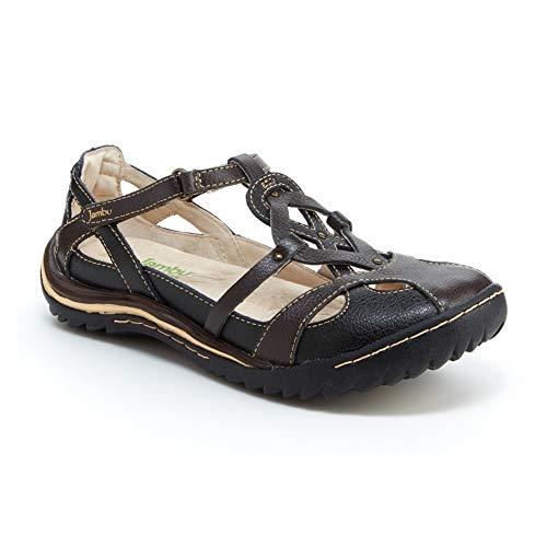 Jambu Women's Spain Walking Shoe, Black Earth, 7 M US