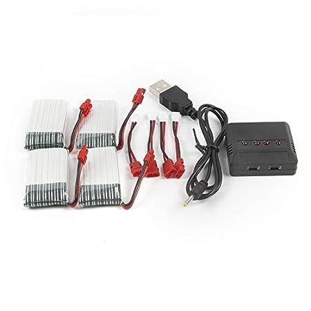 Para Sima X5HC X5HW 3,7 V 500 mAh batería + 1 Drag 4 Charge RC ...