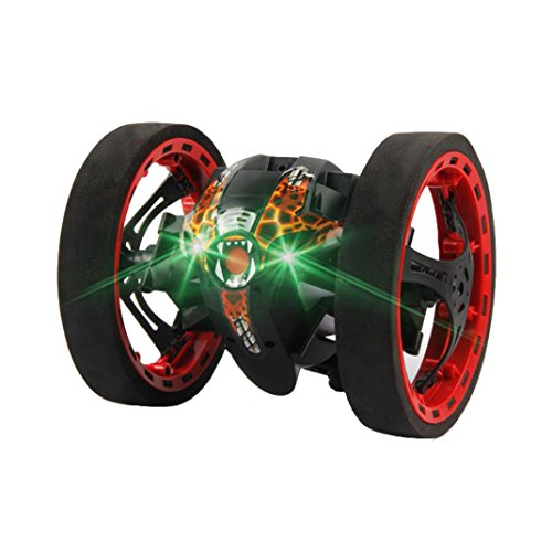 Leegor PEG-81 2.4Ghz RC Bounce Car Wireless Remote Control Stunt Car Toys LED Night Light Automatic Balance Shock Resistance Automobile Birthday Present (Black)