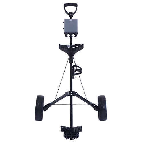COLIBROX--New Foldable 2 Wheel Push Pull Golf Cart /Cup Holder Trolley Swivel Steel Light. pull carts walmart. costway golf cart. best golf pull carts for sale. golf pull carts amazon. by COLIBROX (Image #1)