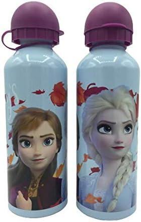 ML Una Botella de Agua de Aluminio, cantimplora térmica a Prueba de Fugas sin BPA para Levar a la Escuela y Deportes el Termo 500ml para niños y niñas (Lila)