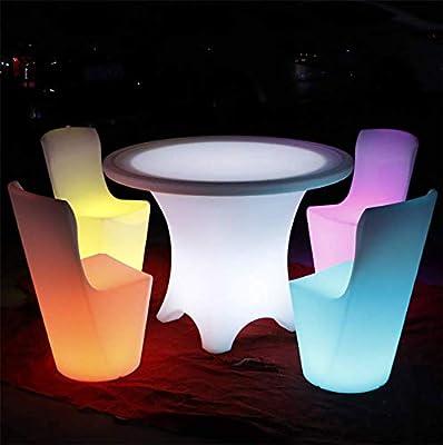 JUSTINZ Mesa De Barra En Forma con Luz LED, RGB 16 Colores con ...