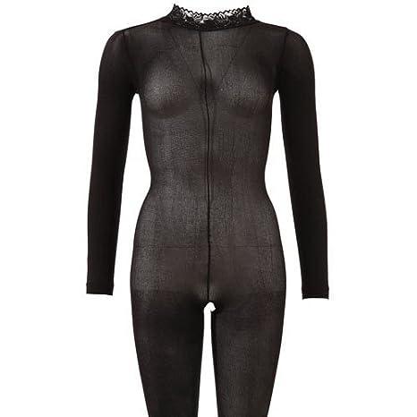 Mandy Mystery Fullbody Ouvert en Résille Noir Taille XL-XXL  Amazon ... 8985a16ee22