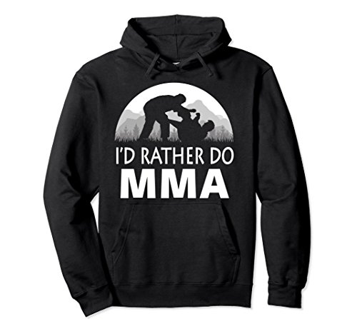 Unisex MMA HOODIE, MIXED MARTIAL ARTS HOODIE, MMA PULLOVER HOODIE Small Black