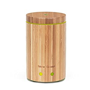 InnoGear Real Bamboo Essential Oil Diffuser Ultrasonic Aromatherapy Diffusers with 7 LED Colorful Lights and Waterless Auto Shut-off by InnoGear