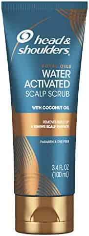 Head & Shoulders Royal Oils Water Activated Scalp Scrub, With Coconut Oil, Dye Free, 3.4 Fl Oz