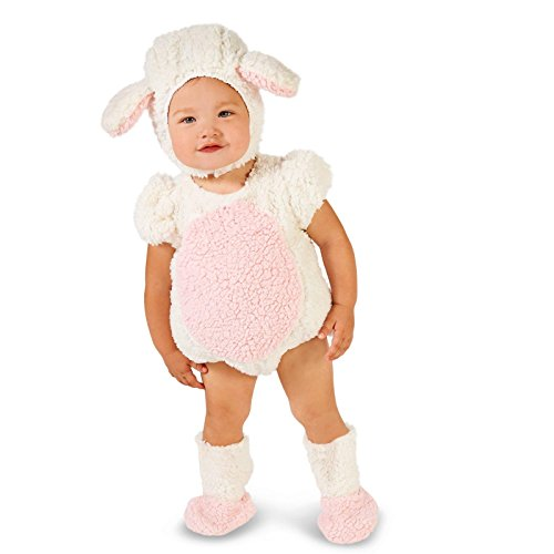 [Pink and White Lamb Infant Costume 6-12M] (Baby Lamb Halloween Costumes)