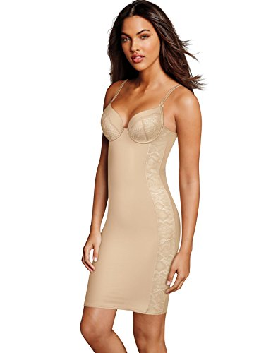 Maidenform Womens Firm Foundations Lift Cup Slip, 38C, Latte Lift