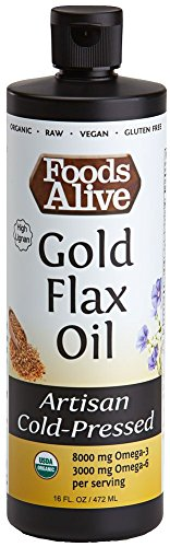 (Foods Alive Gold Flax Seed Oil, Artisan Cold-Pressed, Organic,)