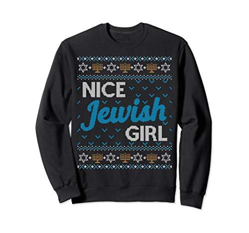 Jewish Girl (Funny Ugly Hanukkah Sweater Nice Jewish Girl Matching Set)
