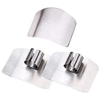 SpringPear 3 Pcs Stainless Steel Finger Guard Protection for Cutting and Dicing Hand Protector Cooking Tools Avoid Injury Guard