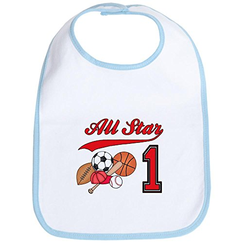 All Star Sports Clothes - CafePress - All-Star Sports First Birthday Bib - Cute Cloth Baby Bib, Toddler Bib