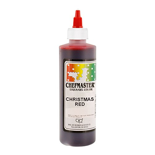 Chefmaster by US Cake Supply 10.5-Ounce Liqua-Gel Cake Food Coloring Christmas Red