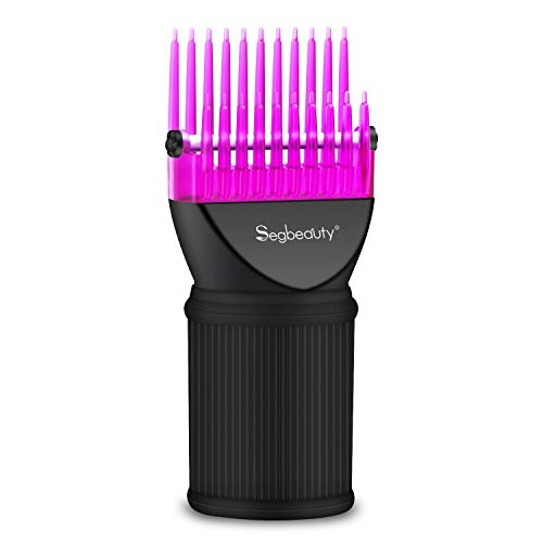 Blow Dryer Comb Attachment, Segbeauty Hair Dryer Blower Concentrator Nozzle Brush Attachments, Hairdressing Styling Salon Tool Pic for Fine, Wavy, Curly, Natural -