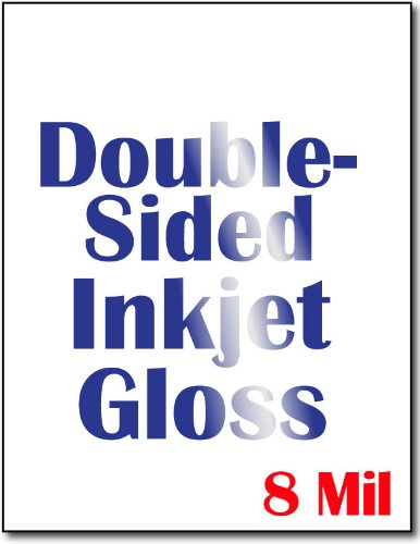 - Cardstock, Double Sided Inkjet Gloss - 50 Sheets