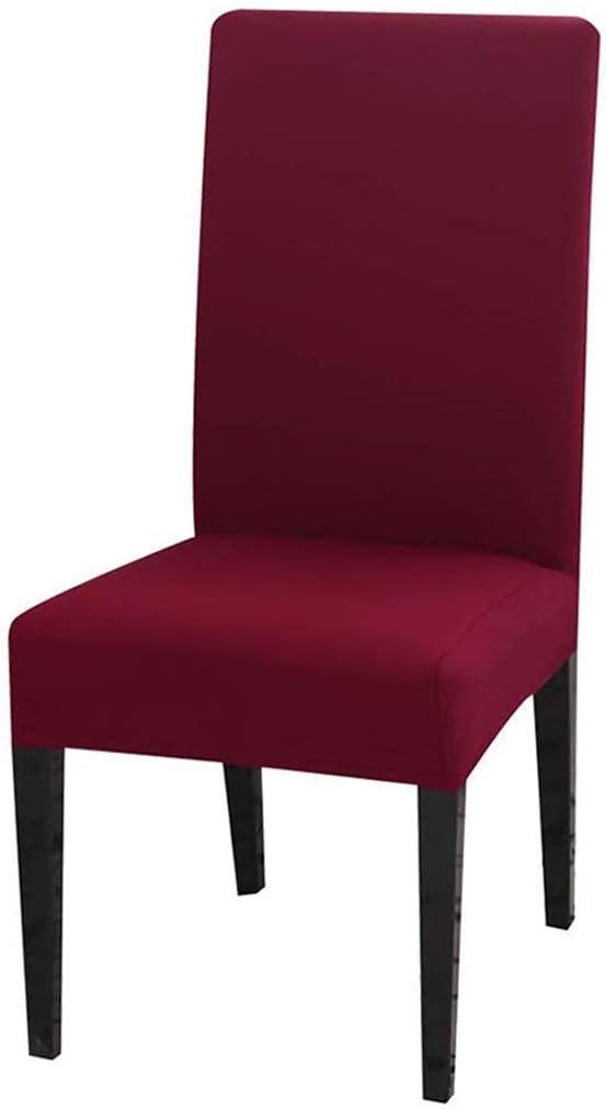 Dioxide Fundas para Sillas Pack de 4 Fundas Sillas Comedor, Fundas Elásticas Chair Covers Lavables Desmontables Cubiertas para Sillas Muy Fácil de Limpiar Duradera(Burdeos,Paquete de 4)