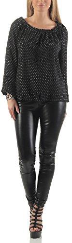 malito Blusa estrella punto Camisera Clásica Casual Botones 17031 Mujer Talla Ùnica Diseño 3