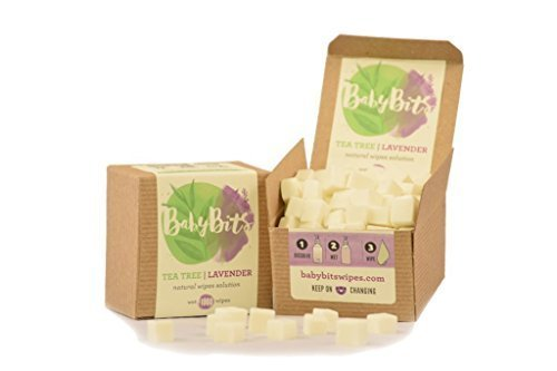 Baby Bits Wipes Solution - Makes 1,000 Natural Wipes • Made in the USA! (2 Pack)