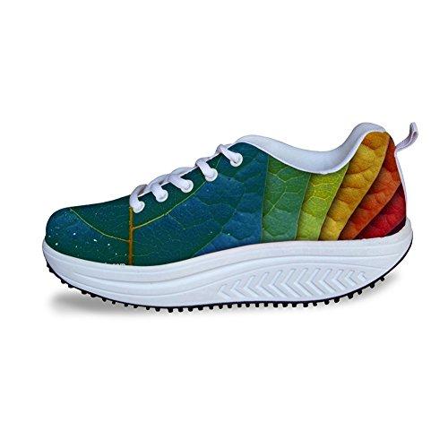 Knuffels Idee Womens Kracht Fitness Wandelen Sneakers Leaf3