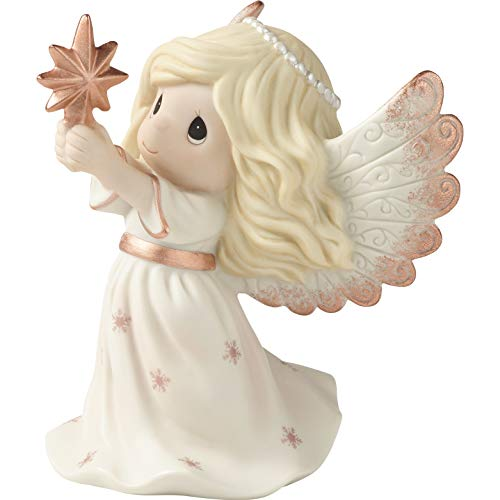 Annual Porcelain - Precious Moments Rejoice in The Wonders of His Love 9th Annual Angel Bisque Porcelain 191023 Figurine, One Size, Multi