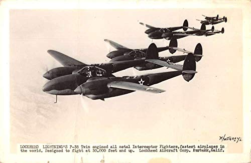 Burbank California Lockheed Aircraft Airplane Real Photo Postcard JA4742292