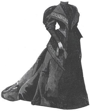 1894 Moiré Reception Toilette for Elderly Lady Pattern ()