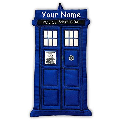 Kurt Adler Personalized Doctor Who Blue Tardis Christmas Stocking - 18 Inches