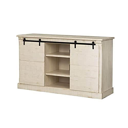 martin svensson home 90937 laurel bay 60 tv stand antique white - Distressed White Tv Stands