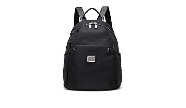 Amazon.com : Women Bags Oxford Cloth Backpack Zipper for Outdoor All Season Purple Gray Dark Blue Black, Black : Sports & Outdoors
