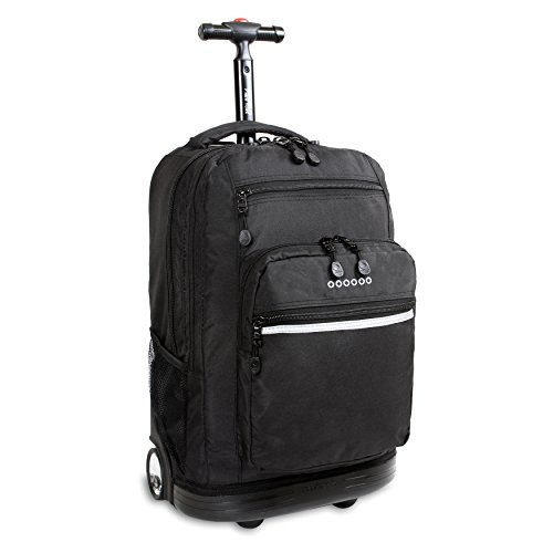 J World New York Sundance Rolling Backpack, Black, One Size