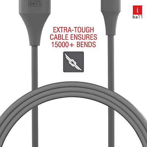 iBall IB-Micro 1.2M USB Charge & Data Sync Cable with up to 3.0A Fast Charging (Lava Grey)