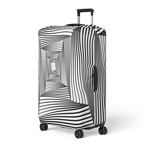 - Pinbeam Luggage Cover Op Also Known As Optical Is of Visual Travel Suitcase Cover Protector Baggage Case Fits 22-24 inches