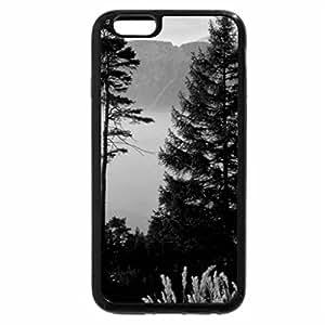 iPhone 6S Plus Case, iPhone 6 Plus Case (Black & White) - morning on woods in awitzerland