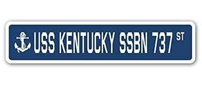 USS KENTUCKY SSBN 737 Street Sign navy ship veteran sailor vet usn gift