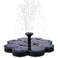 [UPGRADED]1.6W Solar Fountain Pump for Bird Bath, TekHome Sun Powered Small Submersible Floating Easy 20-inch Water Pump Kit for Outdoor Pond Garden Swimming Pool, Adjustable Flow, 4 Nozzles.(SF01)