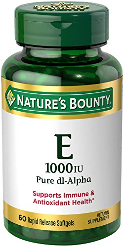 Nature's Bounty Vitamin E 1000 IU Pure dl-Alpha, 60 (E 1000)