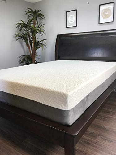 The American Mattress Company - 12in Gel Infused Memory Foam Mattress - 100% Made in USA - 20 Year Warranty - CertiPur Foam (King) - Chiropractic Endorsed