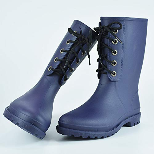 Mini Balabala Blue Women Rubber Boots Work Rain Boots Women Rain Shoes Waterproof Booties Womens Rain Boots Wide Calf Size 10