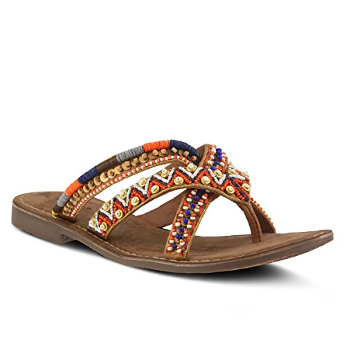(Azura by Spring Step Women's TRIAGE Flat Sandal, tan, 40 M EU (US 9 US))