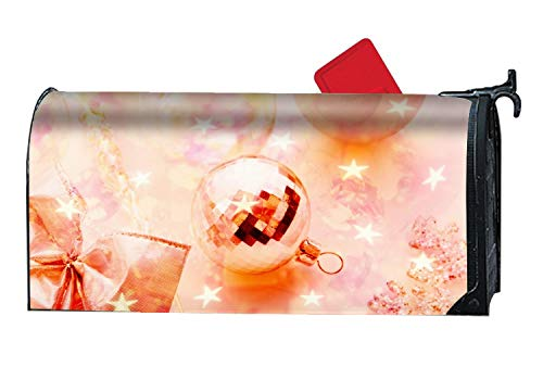 XW-FGF Holiday Christmas Ornaments Custom Magnetic Mailbox Cover - Seasonal Mailbox Makeover