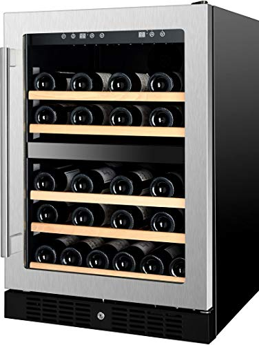 Kucht K148E12 24 Inch Built-In Dual Zone Wine Cooler with 54 Bottle Capacity, in Stainless Steel by Kucht (Image #4)