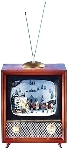 Musical TV Figurine with Rotating Train (Christmas Crackers Musical)