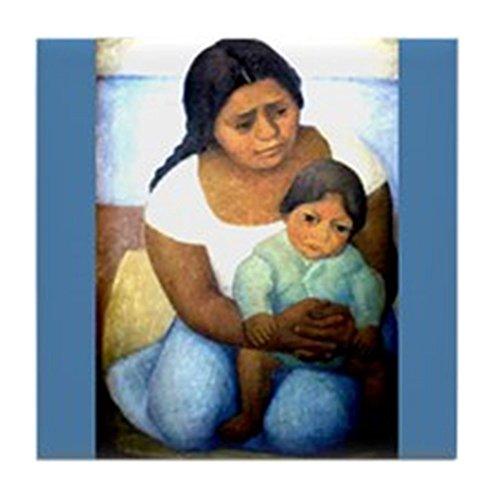 CafePress - Diego Rivera Mother & Child Art Tile Coaster - Tile Coaster, Drink Coaster, Small Trivet