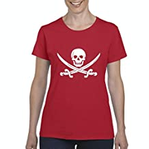 Artix Happy Skull Pirate with Swords Women's T-shirt Tee Clothes