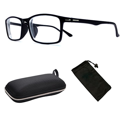 (#NS-201) Myopia Short sighted Super Lightweight Comfortable Square Rectangular Shape Driving Glasses Eyeglasses by CPS