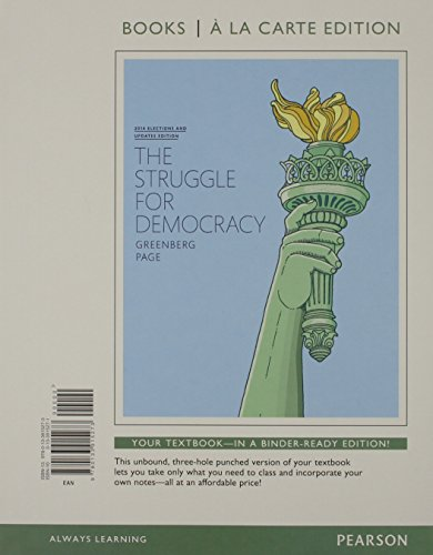 Struggle For Democracy, The, 2014 Elections And Updates Edition, Books A La Carte Edition (11th Edition)